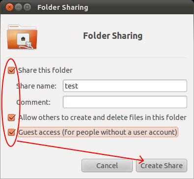 Share Ubuntu Folders