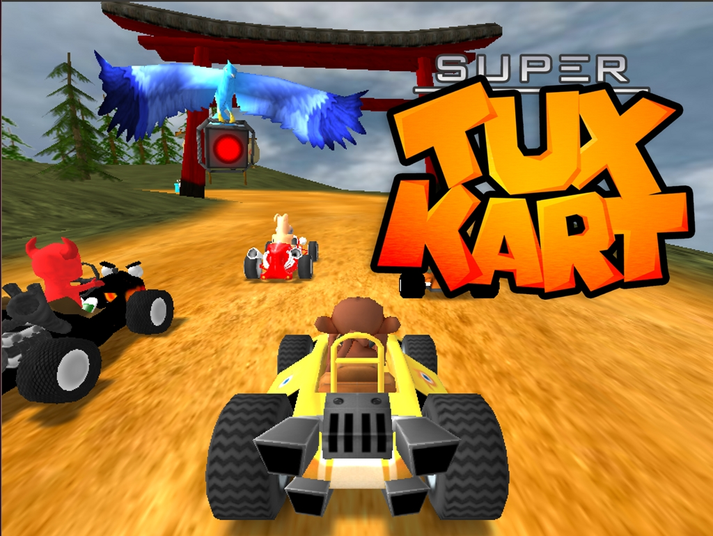 Download Supertuxkart on books desktop themes