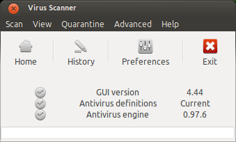 ClamAV antivirus for Ubuntu