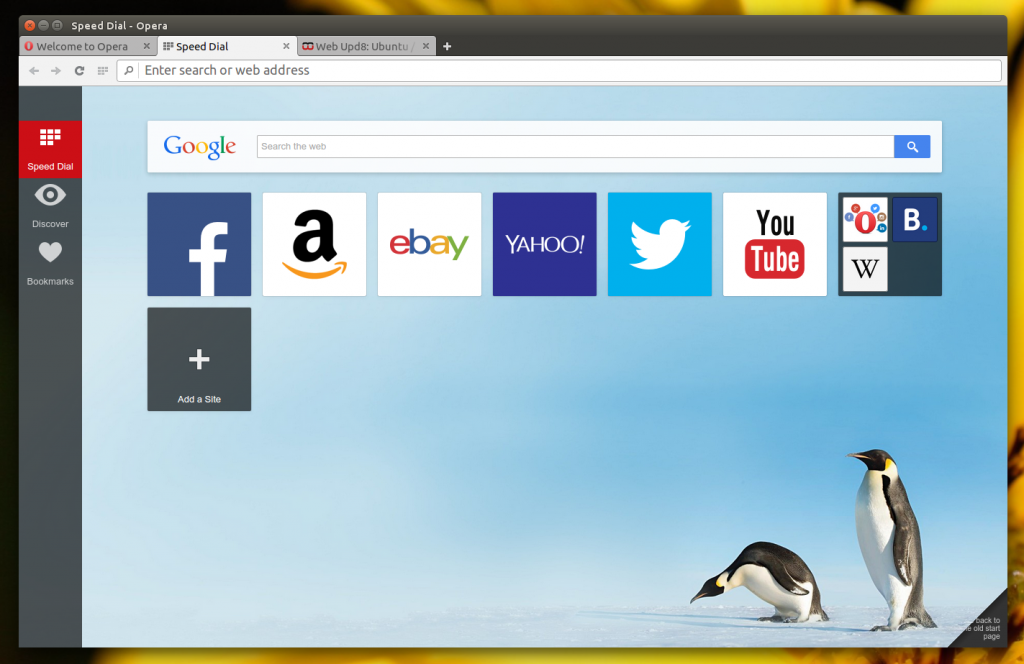 Get Opera Browser 26 for Ubuntu