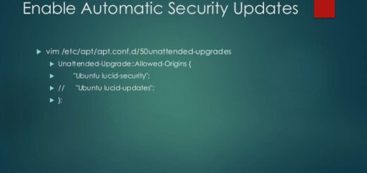 Enable automatic Ubuntu server updates