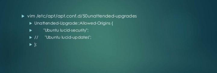Enable automatic Ubuntu server updates
