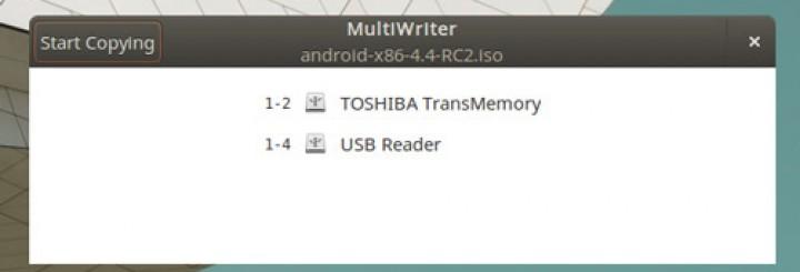 GNOME Multi Writer On Ubuntu 14.04