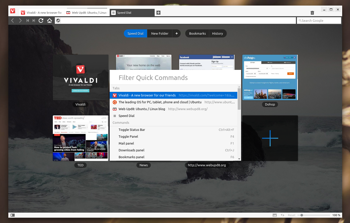 Vivaldi Browser for Ubuntu 14.04