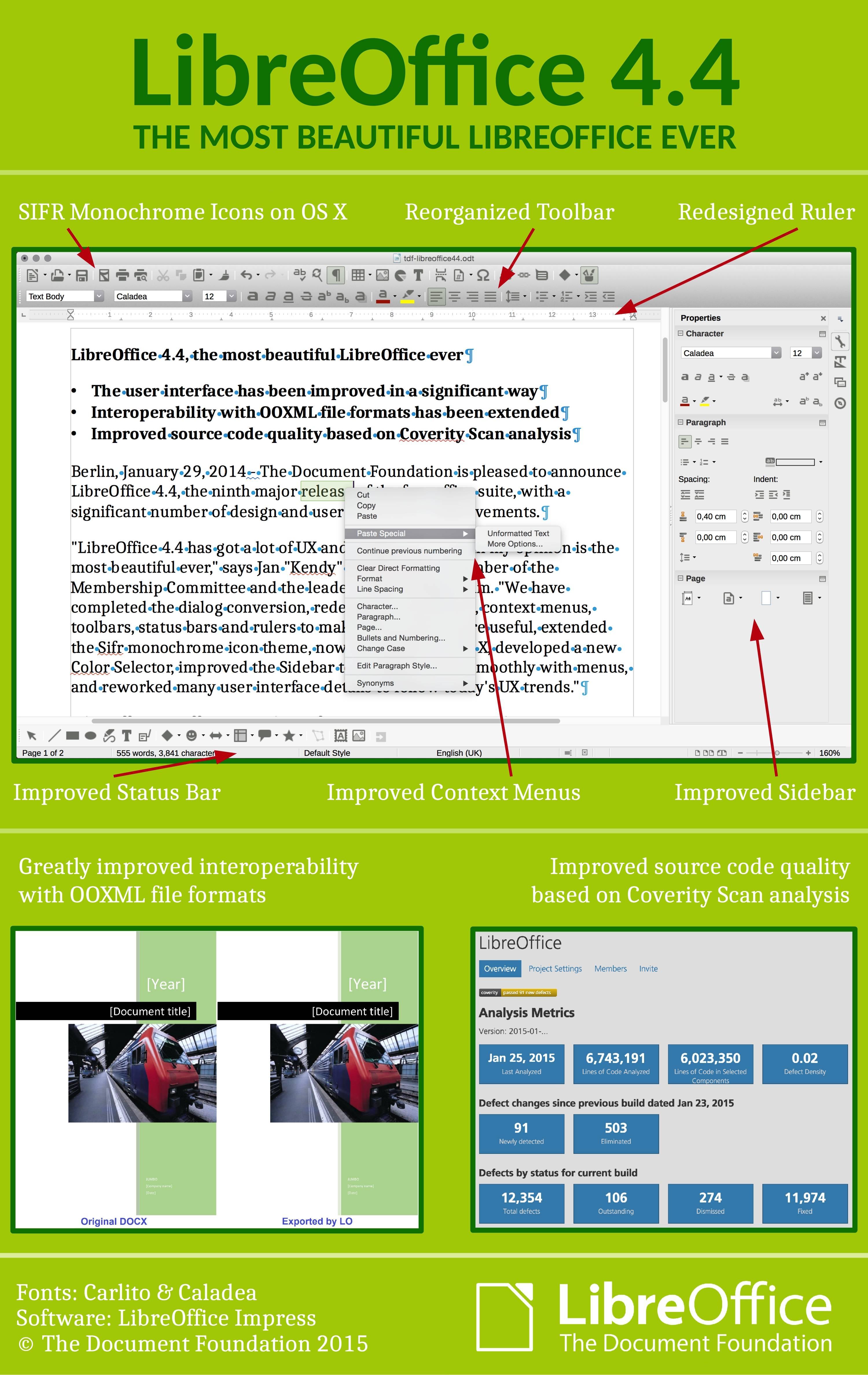 LibreOffice 4.4 Features on Ubuntu