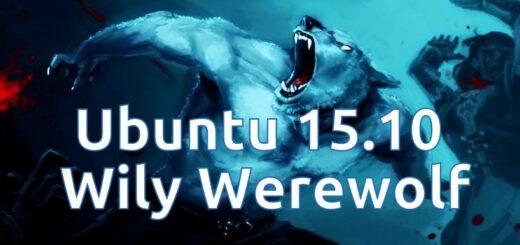 Cool Ubuntu 15.10 Wily WereWolf Logo