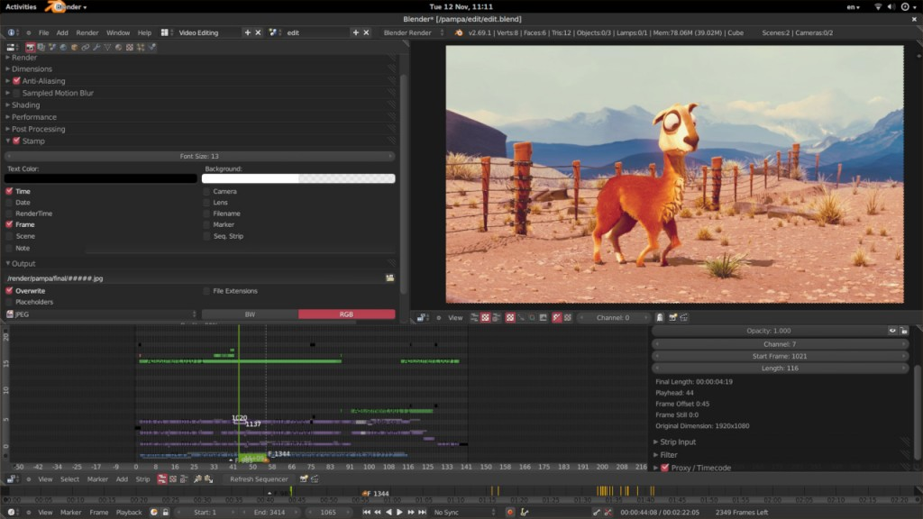 Blender Video Editing Software