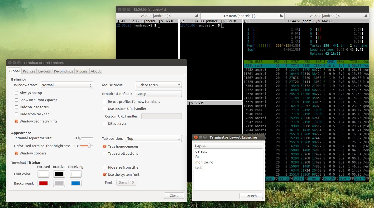 Terminator App for Ubuntu