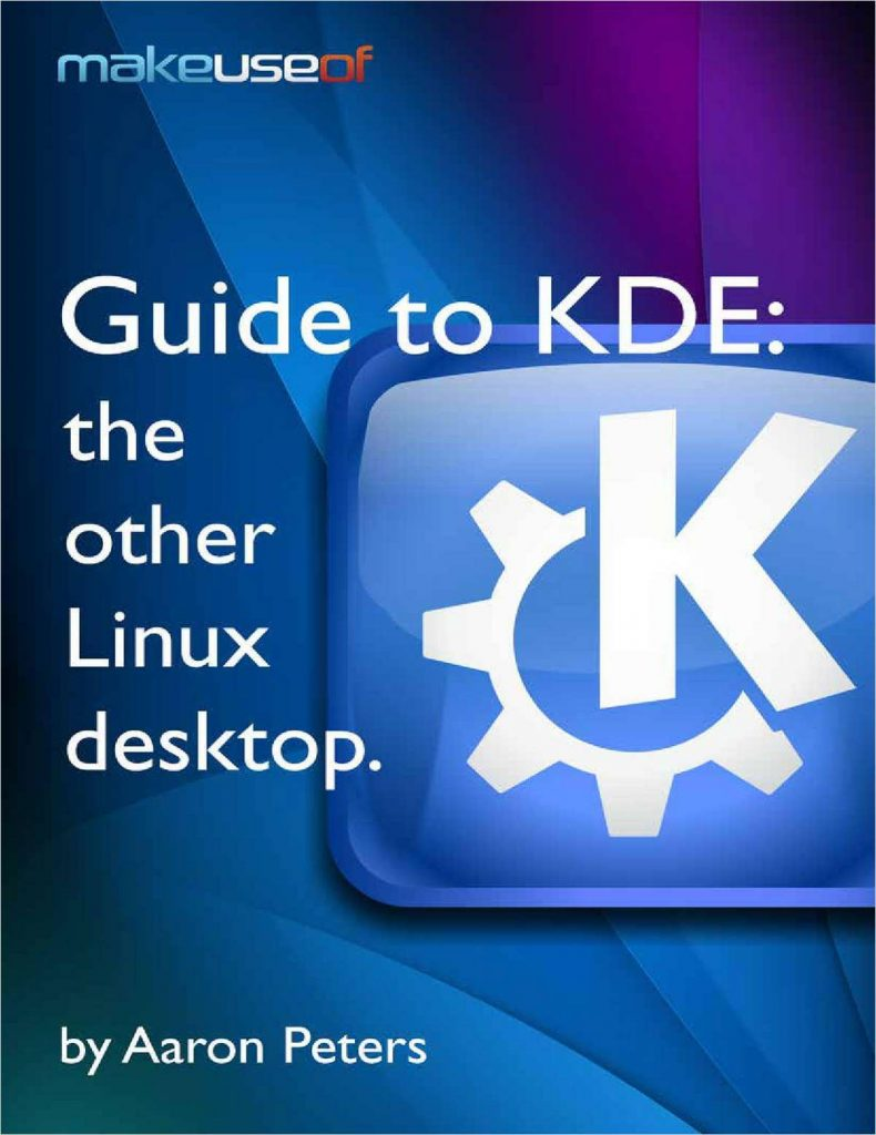 Guide to KDE Linux Desktop Book