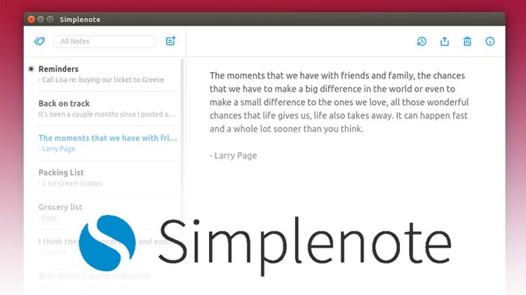 Simplenote For Linux