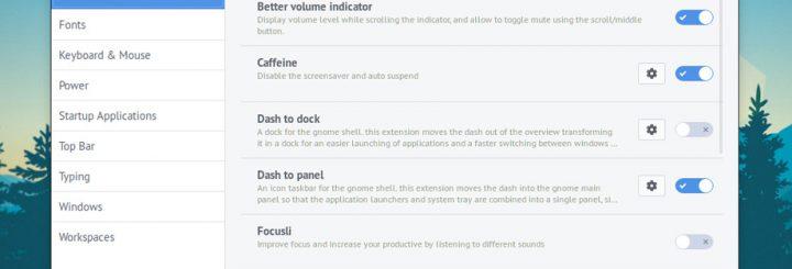 Ubuntu 17.10 GNOME Tweak Tool