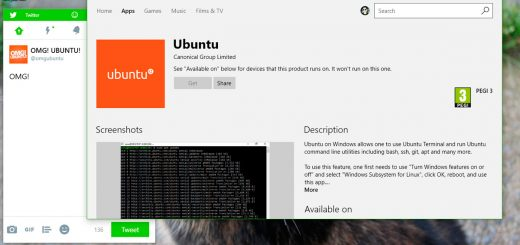 Ubuntu on Windows 10 Store