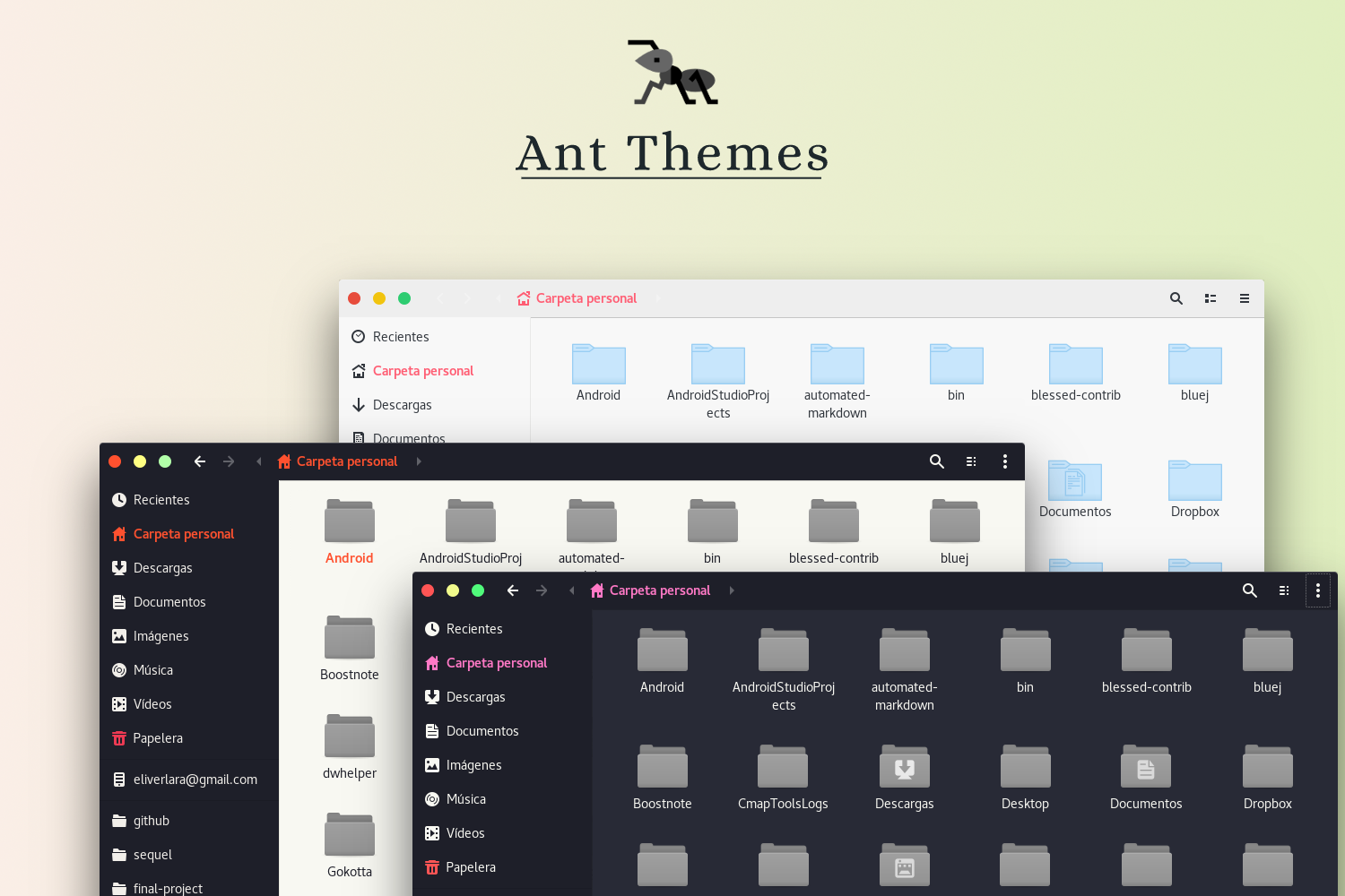The electric ant themes