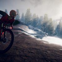Snow-background-on-dirt-bike
