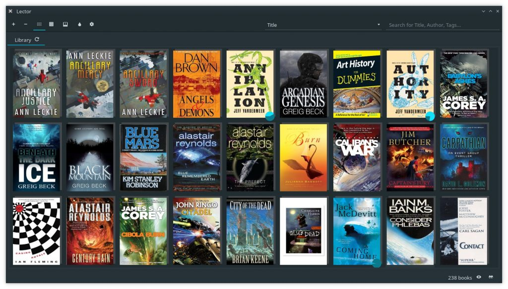 Lector eBook reader for Linux