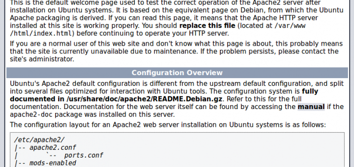 Apache2 installed on Ubuntu 18.04 Server