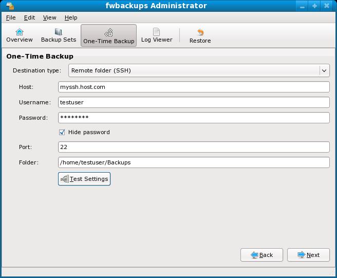 Fwbackups Remote Backup option