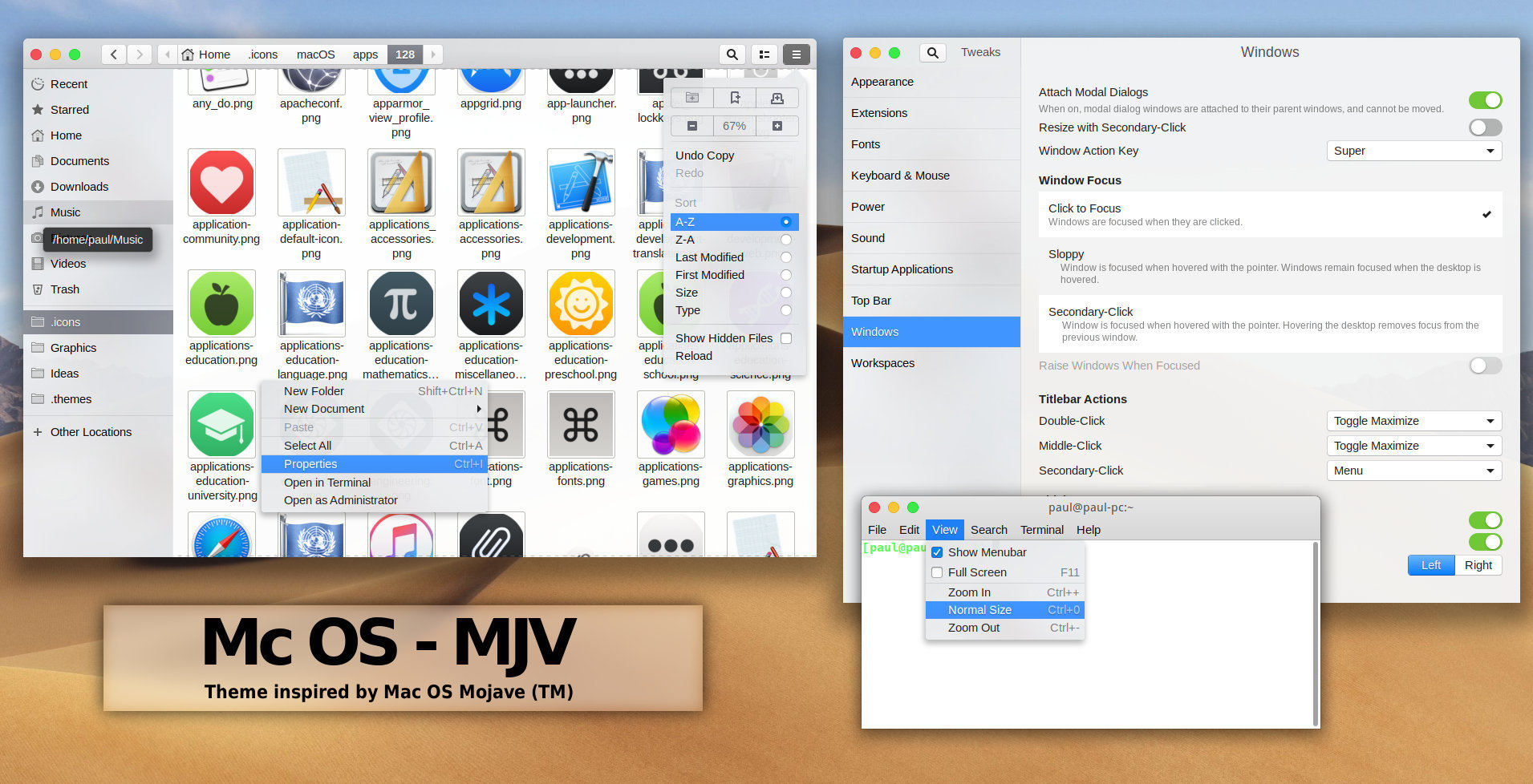 Download macOS Mojave Theme For Ubuntu - Includes Dark Mode!
