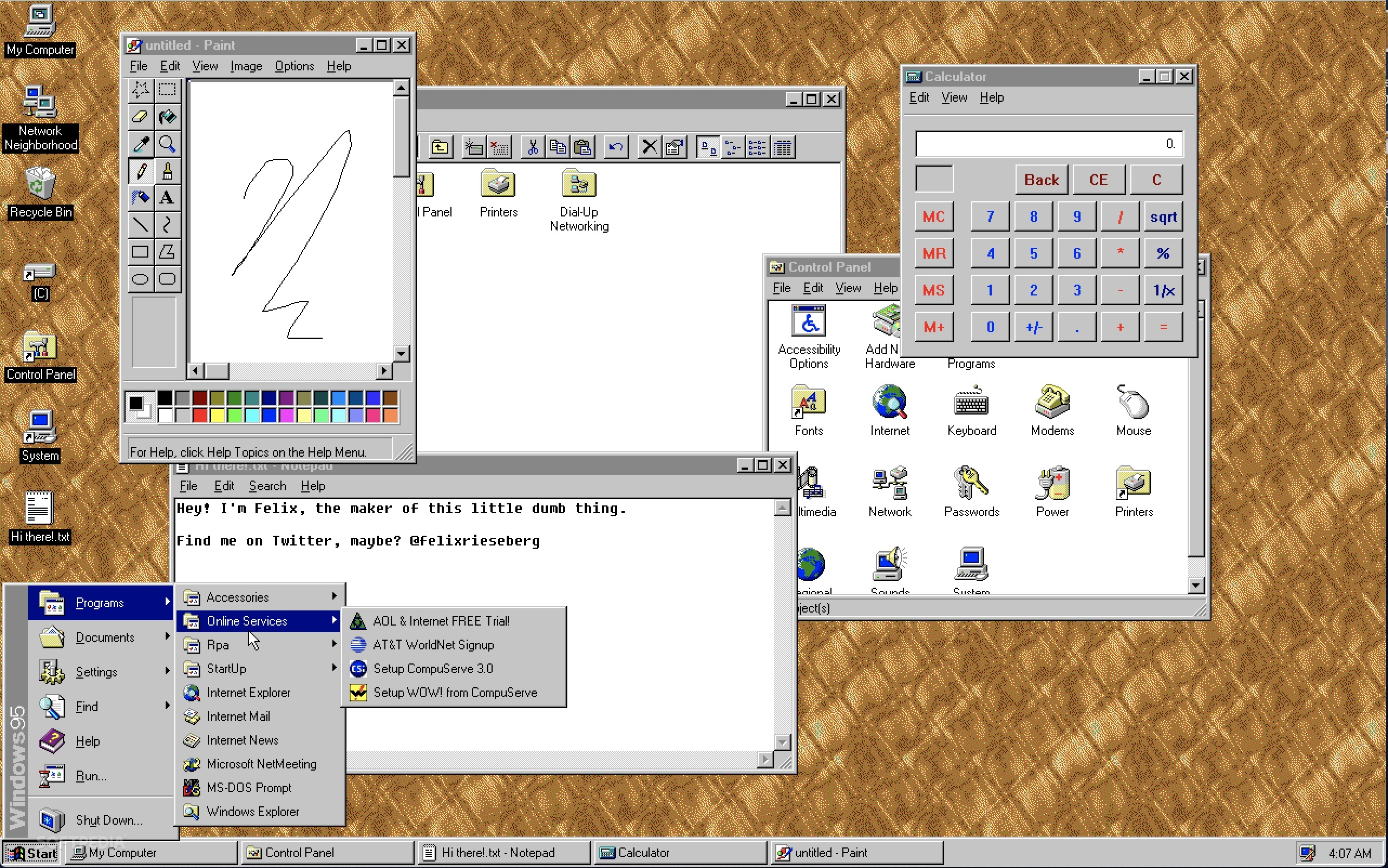 Windows 95 Is Now Available on Linux, Mac, and Windows as an
