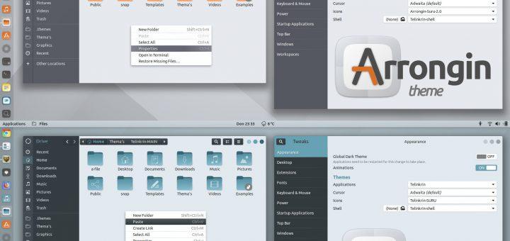 Telinkrin and Arrongin theme screenshot