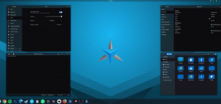 Screenshot of Star Labs theme