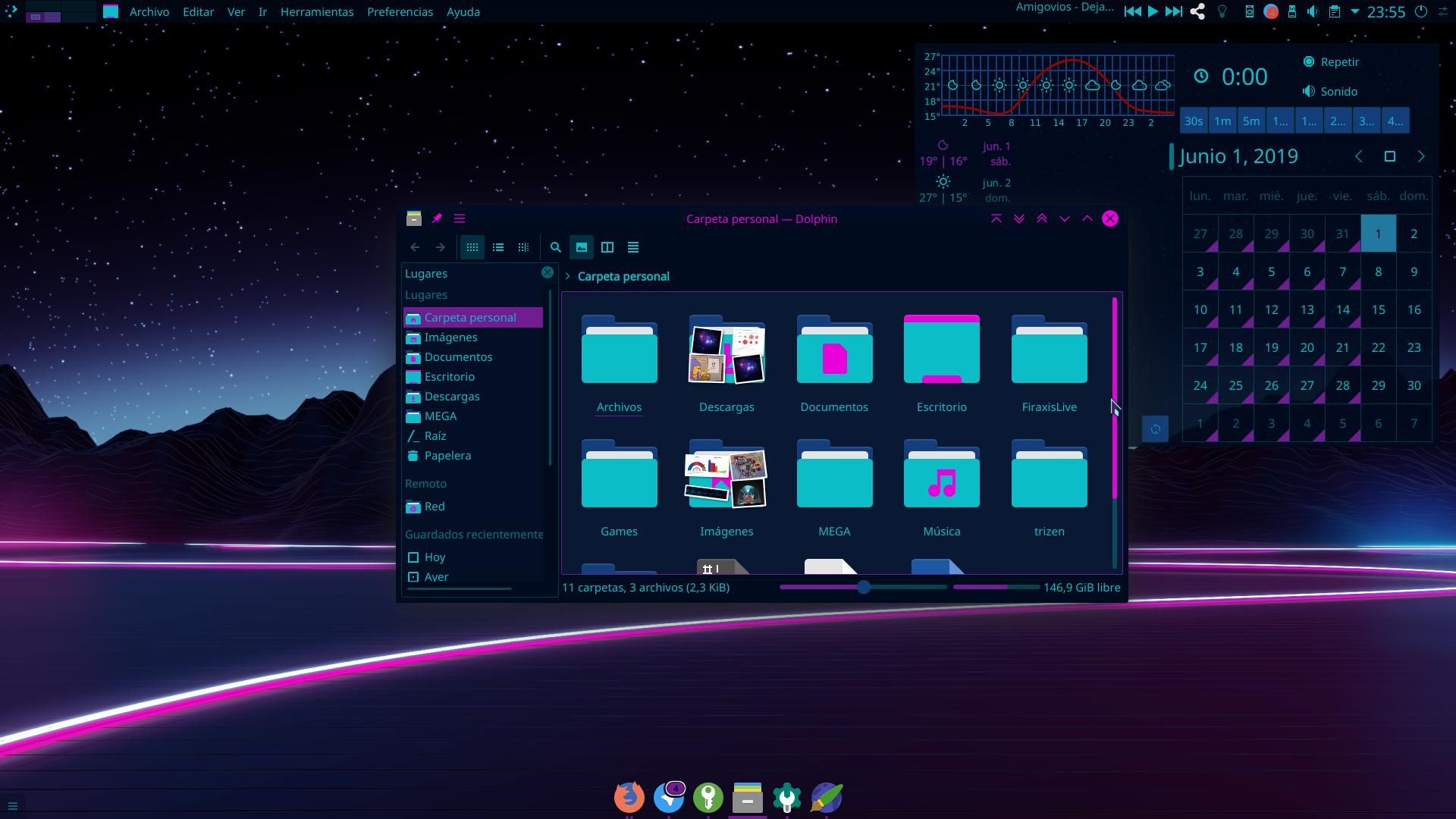 Download Cyberpunk Neon Theme for Ubuntu