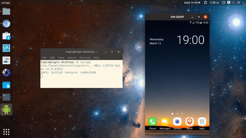 Scrcpy on Ubuntu