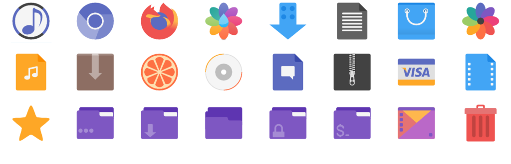 Flatery Icon theme Screenshot