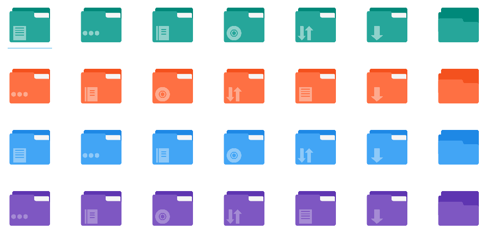 Flatery Folder Icons