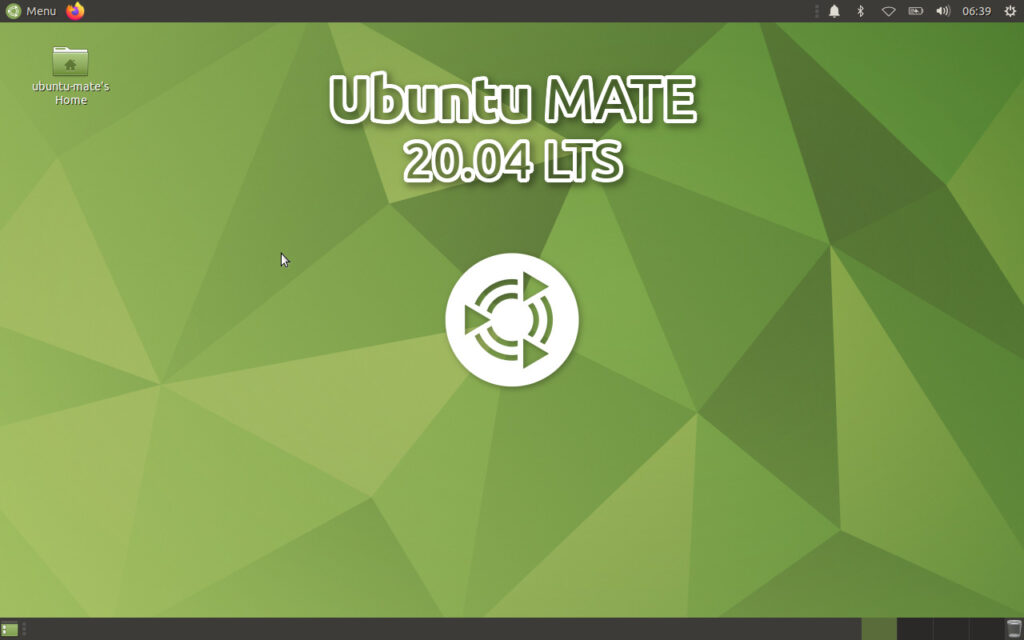Ubuntu MATE 20.04 Home Screen