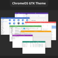 Chrome OS theme for Linux with multiple colors